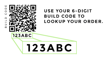 Use your 6 Digit Build Code to Search.