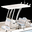 T-Top White Powder Coated Aluminum with 4 Rod Holders