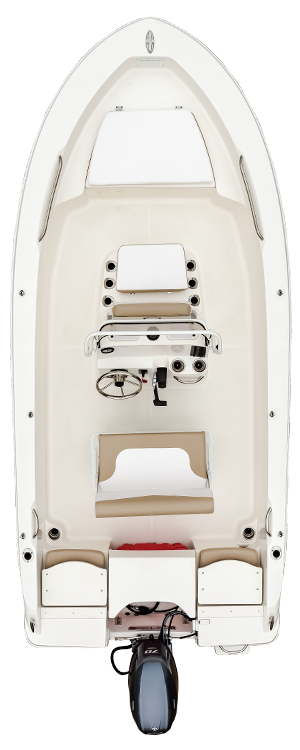Overhead view of the  Robalo R160