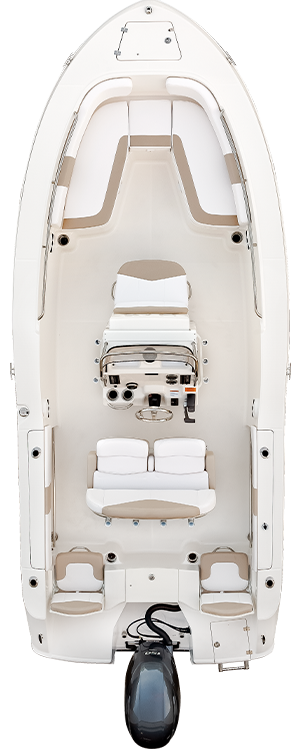 Overhead view of the  Robalo R200