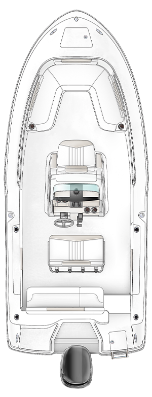 Overhead view of the  Robalo 202 Explorer