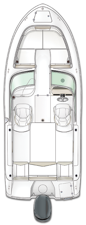 Overhead view of the  Robalo R207