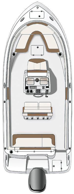 Overhead view of the  Robalo 222 Explorer
