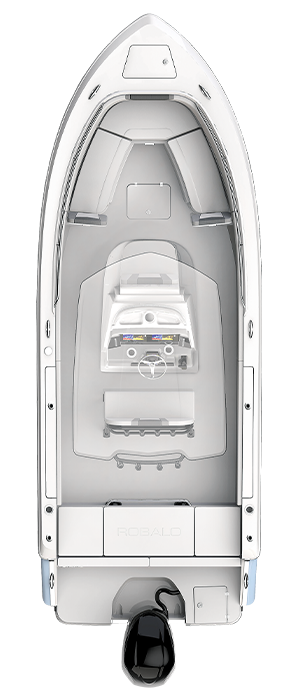 Overhead view of the  Robalo R230