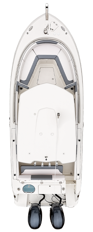 Overhead view of the  Robalo R242