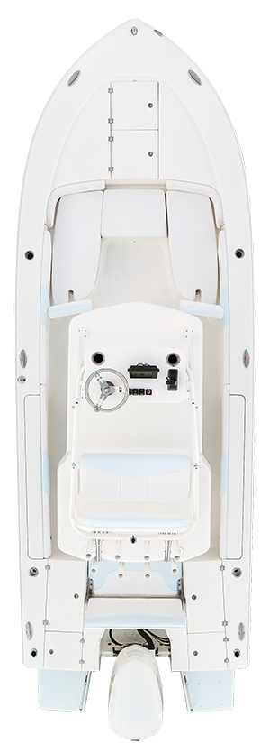 Overhead view of the  Robalo 246 Cayman SD