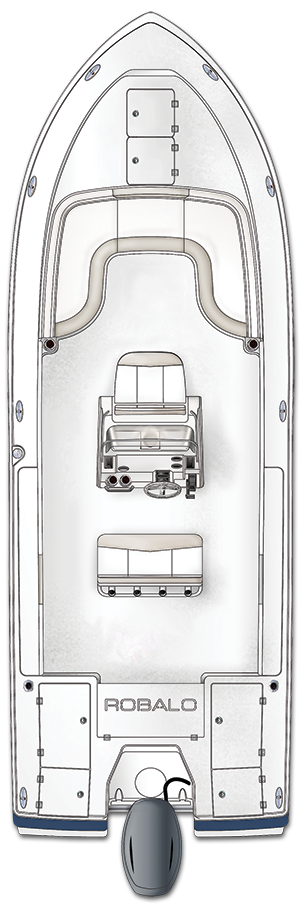 Overhead view of the  Robalo 266 Cayman