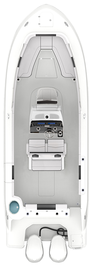 Overhead view of the  Robalo R272