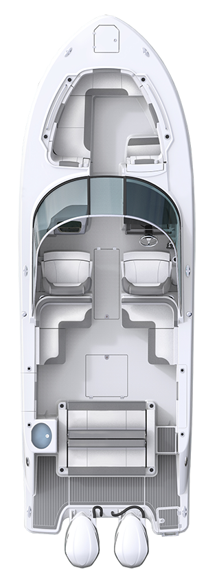 Overhead view of the  Robalo R317